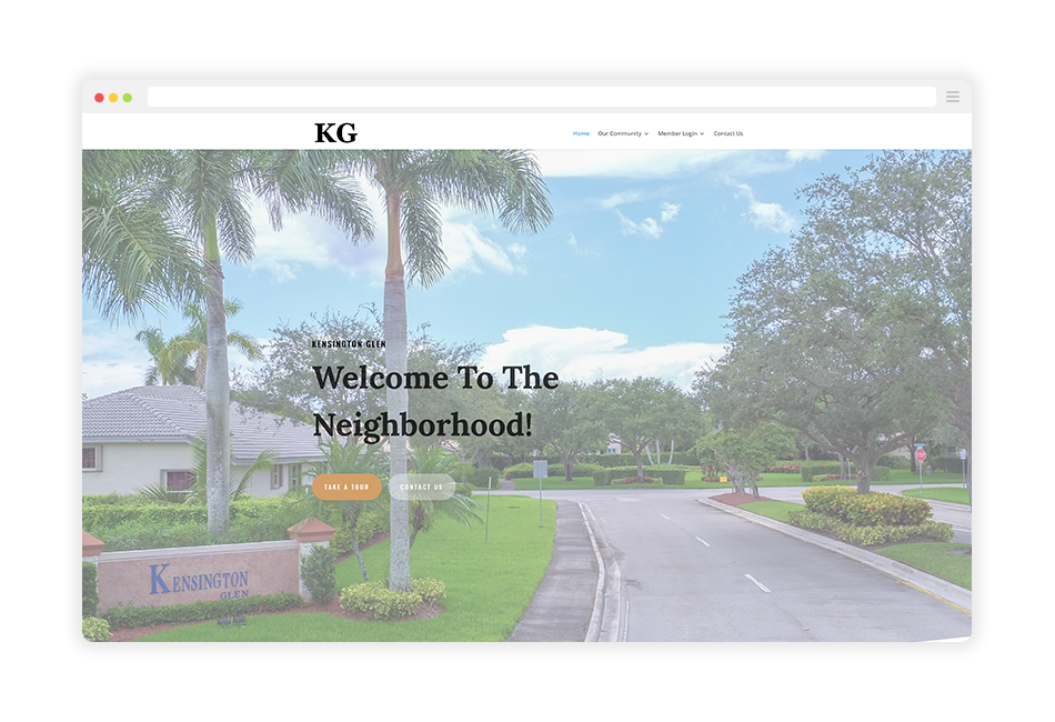 coral springs homeowner association website example