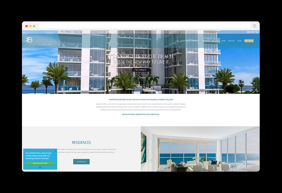 jacksonville condo website homepage